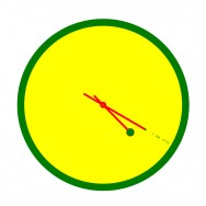 4:20 Sensi Rasta Colors Clock