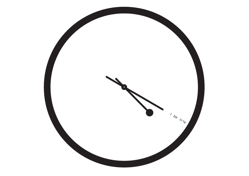 4:20 Sensi Black & White Clock