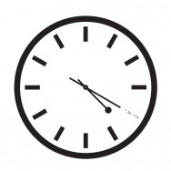 4:20 Sensi Black & White Clock with Markings