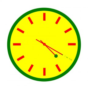 4:20 Sensi Rasta Colors Clock with Markings