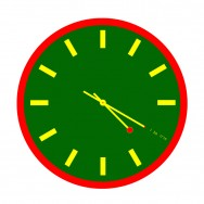 4:20 Sensi Rasta Green Clock with Markings