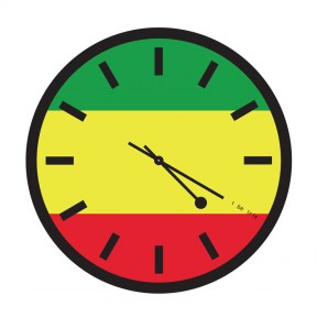 4:20 Sensi Rasta Flag Clock with Markings
