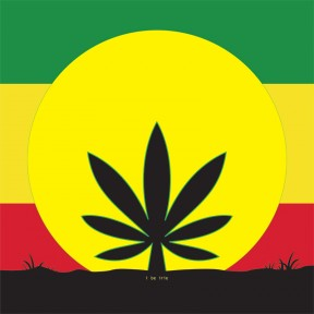 Sensi Sun Sure To Rise Cannabis Leaf Rasta Flag